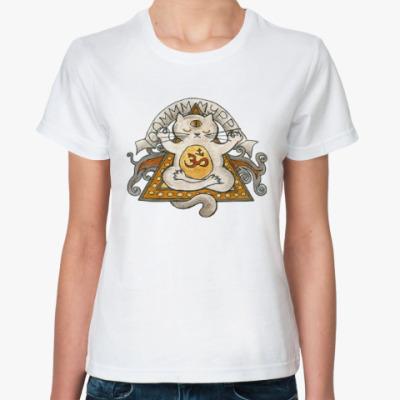 Классическая футболка Медитирующий кот
