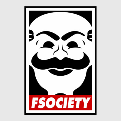 Постер Fsociety. Mr. Robot