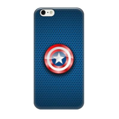 Чехол для iPhone 6/6s Капитан Америка (Captain America)