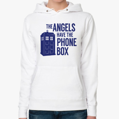Женская толстовка худи The Angels Have The Phone Box