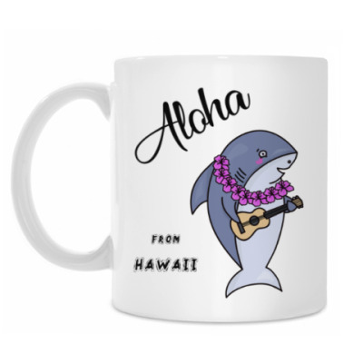 Кружка Акула с гитарой Гавайи