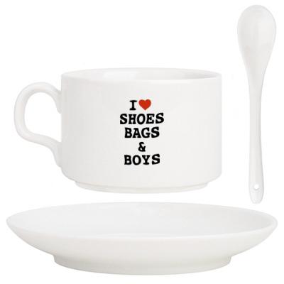 Кофейный набор I Love Shoes, Bags & Boys