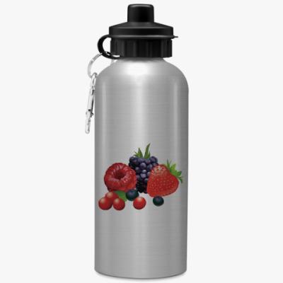 Спортивная бутылка/фляжка Ягоды