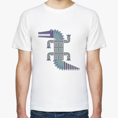 Футболка Синий крокодил