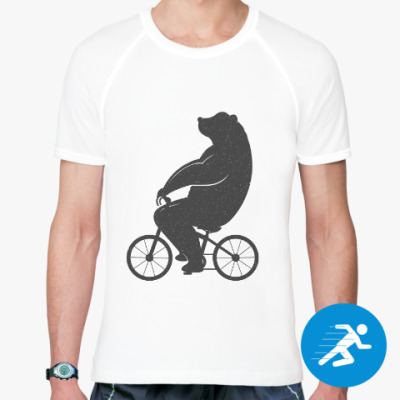 Спортивная футболка Медведь на велосипеде