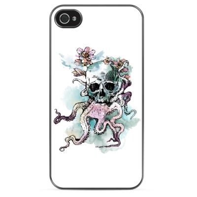 Чехол для iPhone Череп-кальмар