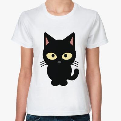 Классическая футболка Черный Котик
