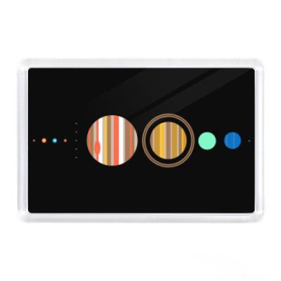 Магнит Солнечная система минимализм