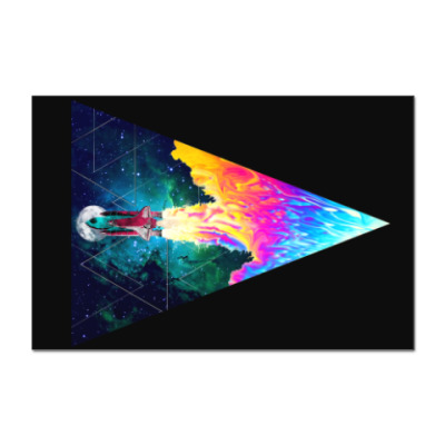 Наклейка (стикер) Запуск космического корабля
