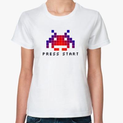 Классическая футболка Space invader (8bit)