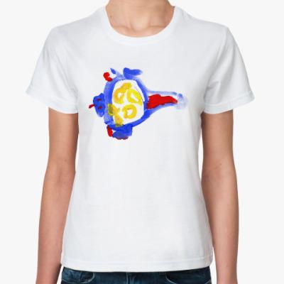 Классическая футболка Синий вертолёт