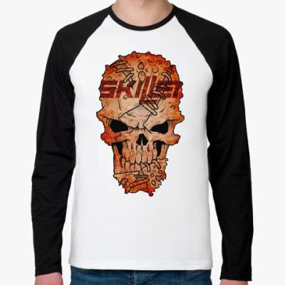 Футболка реглан с длинным рукавом Skillet Skull