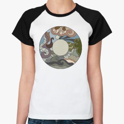 Женская футболка реглан Абстрактный орнамент