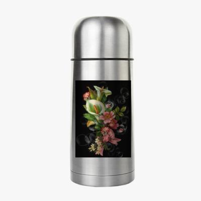 Термос цветы