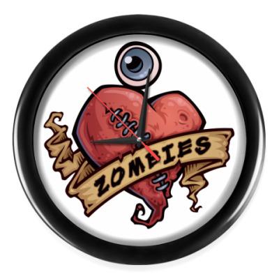 Настенные часы I love zombies