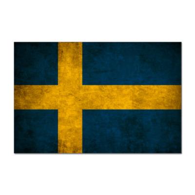Наклейка (стикер)  'Шведский флаг'