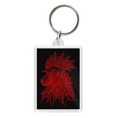 Брелок Красный петух символ Года