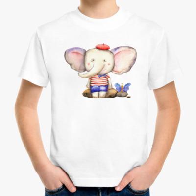 Детская футболка милый слоненок