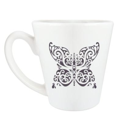 Чашка Латте Бабочка-тату
