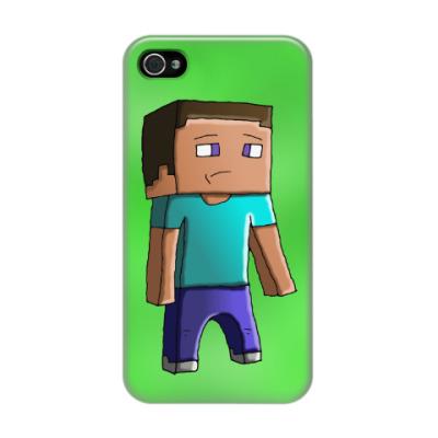 Чехол для iPhone 4/4s Minecraft Steve