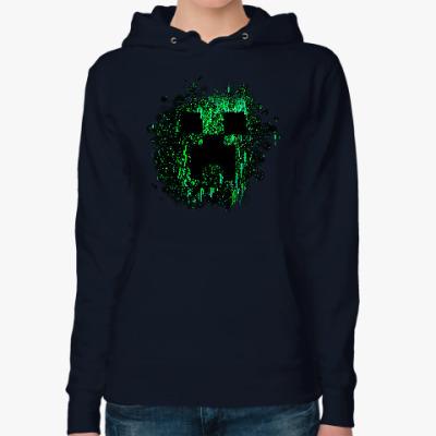 Женская толстовка худи Minecraft Creeper