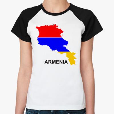 Женская футболка реглан  Армения