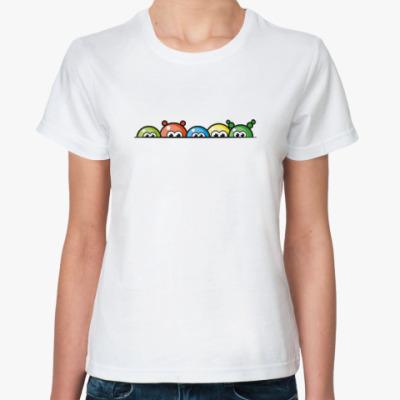 Классическая футболка Blobs - цветные шарики