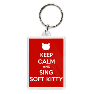 Брелок Keep calm and sing SOFT KITTY