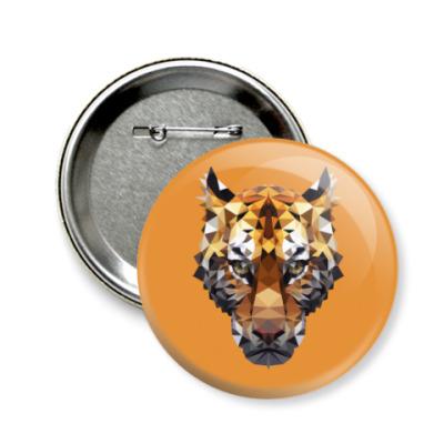 Значок 58мм Тигр / Tiger