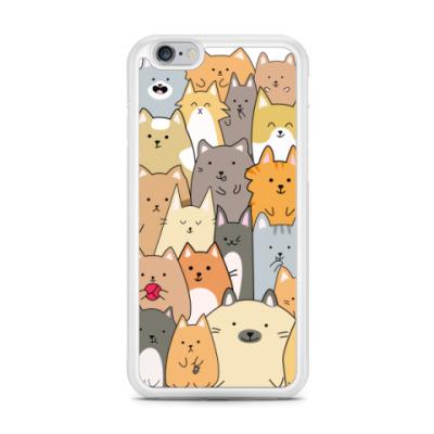 Чехол для iPhone Смешные коты (funny cats)