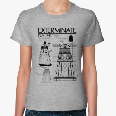 Женская футболка Dalek plan