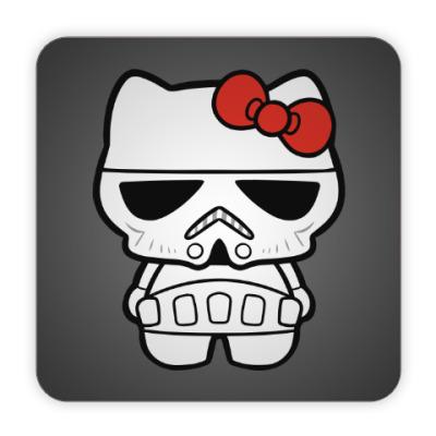 Костер (подставка под кружку) Штурмовик Hello Kitty