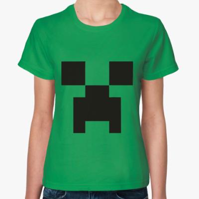 Женская футболка  Minecraft Майнкрафт