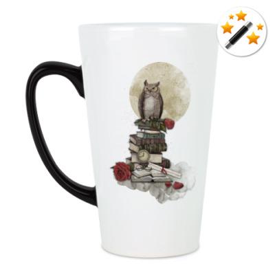 Кружка-хамелеон Мудрая сова и книги