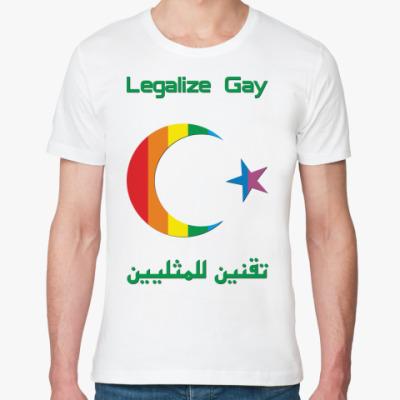 Футболка из органик-хлопка Legalize Gay /arabian/