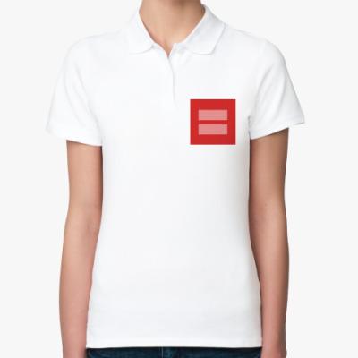 Женская рубашка поло Marriage equality [LGBT]