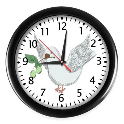 Настенные часы Голубь с оливой