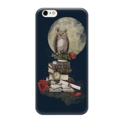 Чехол для iPhone 6/6s Мудрая сова и книги