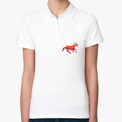 Женская рубашка поло Рубиновый Единорог