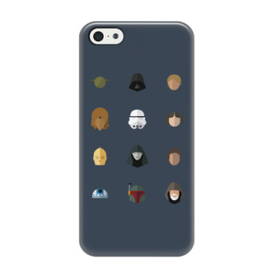 Чехол для iPhone 5/5s Персонажи Звездных Войн