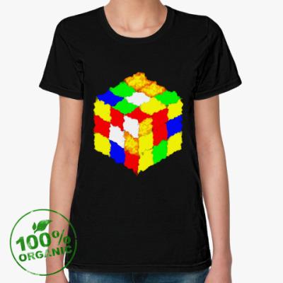 Женская футболка из органик-хлопка Кубик Рубика