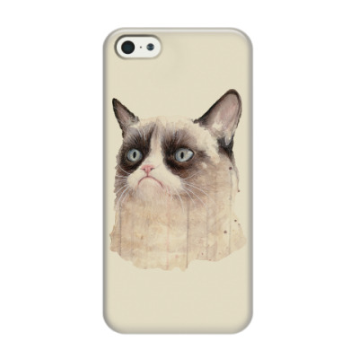 Чехол для iPhone 5/5s Grumpy Cat / Сердитый Кот