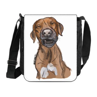 Сумка на плечо (мини-планшет) Пёс