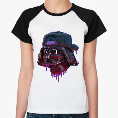 Женская футболка реглан Дарт Вейдер Бомж