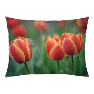 Подушка Апрельские тюльпаны