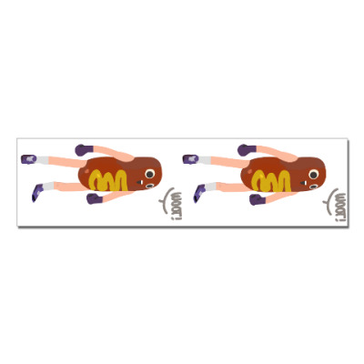 Наклейка (стикер) Hot Dog Man