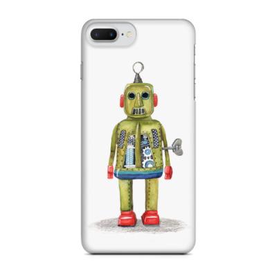 Чехол для iPhone 7 Plus Винтажные игрушечные роботы