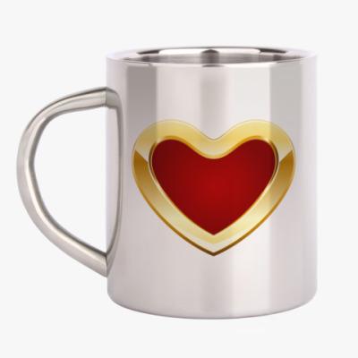 Кружка металлическая Golden Heart