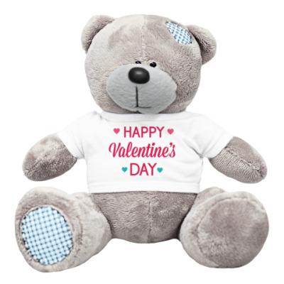 Плюшевый мишка Тедди С Днем святого Валентина