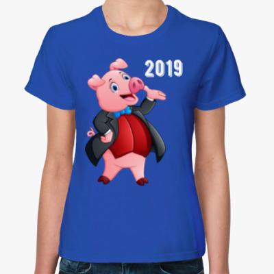 Женская футболка Свин Джентльмен 2019